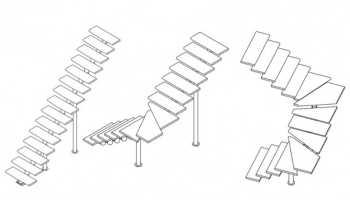 Сборка модульной лестницы с забежными ступенями