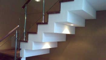 Обшивка лестницы на металлокаркасе гипсокартоном