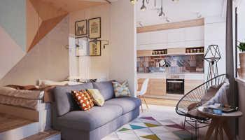 Дизайн однокомнатной квартиры площадью 42 кв. м