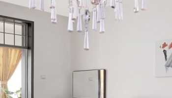 Современные люстры в интерьере