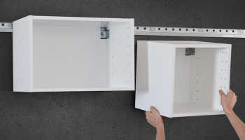 На какие шурупы вешать кухонные шкафы
