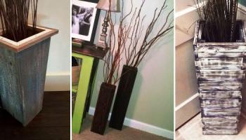 Как сделать напольную вазу своими руками?