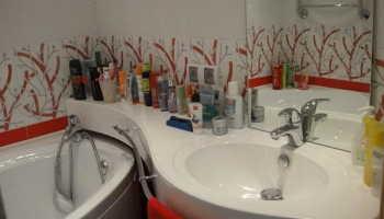 На какой высоте крепится раковина в ванной