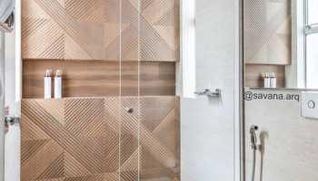 Коричневая плитка в дизайне интерьера