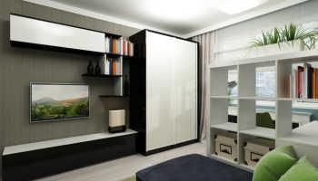 Современные шкафы в гостиную