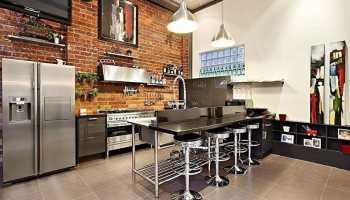 Кухни-студии с барной стойкой