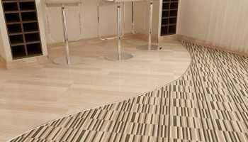 Как выполнить стык линолеума с другими напольными покрытиями?