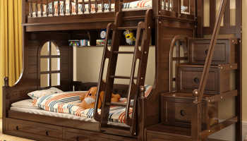 Детские двухъярусные кровати из массива дерева: виды и дизайн