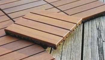 Как положить плитку на деревянный пол?