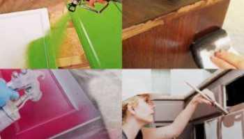 Как покрасить полированный шкаф без ошкуривания