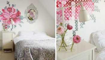 Роспись стен в спальне своими руками