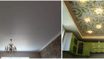 Как покрасить натяжной потолок своими руками