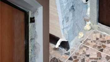 Устройство дверных откосов из гипсокартона