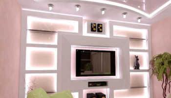 Дизайн стен из гипсокартона: варианты для квартиры и для загородного дома