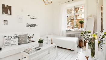 Дизайн гостиной-спальни 17 кв. м